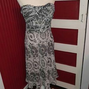 NWOT Venus Paisley Strapless Summer Dress 6